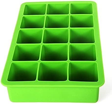 Demarkt Simple Ice Cube Tray Silicone Ice Tray 15 Holes for Whiskey Cocktail and Other Drink Blue