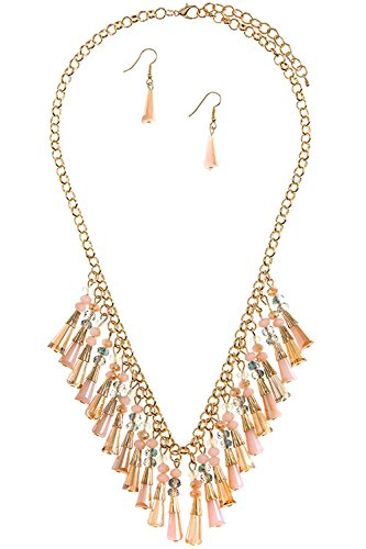 BAUBLES & CO FACETED BEAD FRINGE NECKLACE SET (LT (Faceted Bead Fringe)