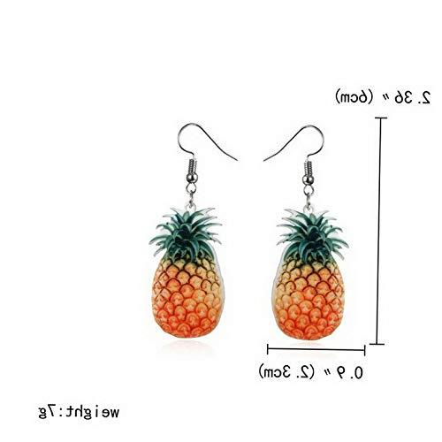 Waldenn 9 Pair/Set Acrylic Double-Sided Fruit Orange Dangle Hook Earrings Women Jewelry | Model ERRNGS - 12630 | ()
