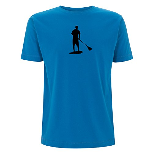 Stand up Paddling, SUP T-shirt mit ÖKO TEX 100 Druck Electric Blue XL