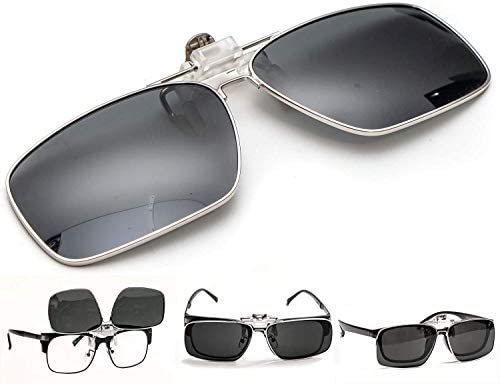 ElementsActive Men/'s Polarized Clip-on Driving Sunglasses with Flip Up Function