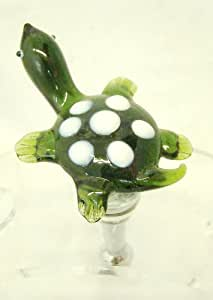 New Hand Blown Glass Turtle Wine Stopper