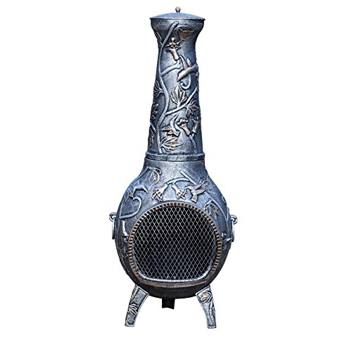Oakland Living Hummingbird Chimenea, 53-Inch, Antique Pewter by Oakland Living