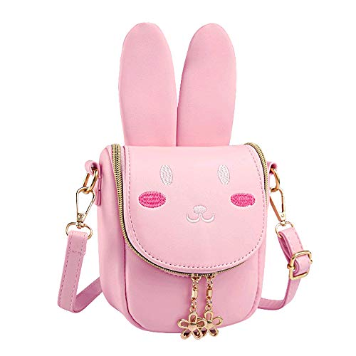 SUNMALL Little Girl Purse Cute Crossbody Bag Kids Messenger Shoulder Handbag for Little Girls Pink -