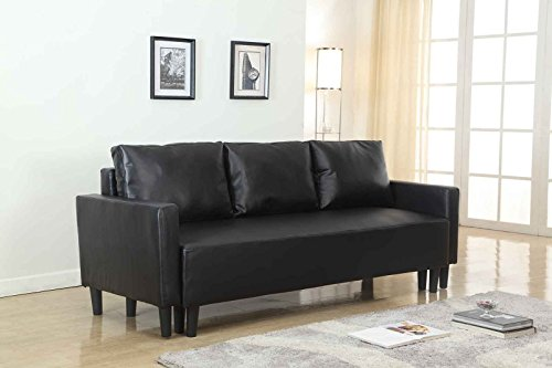 large-black-leather-modern-contemporary-quality-sleeper-sofa-futon