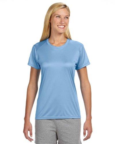A4 Women's Cooling Performance Crew Short Sleeve T-Shirt, Light Blue, X-Small