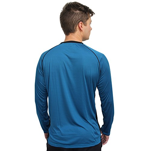 Metro Outfit Men's Long Sleeve Rashguard Swim Tshirt With UPF 50+ Sun Protection
