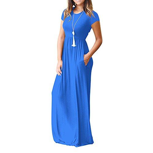 Verano Encaje Azul Fiesta Vestido 2018 Vestidos Cóctel Cuello Damark para Casuales Bolsillos Vacation Noche Mujer Mujer Playa TM O xgUUtqSwZ