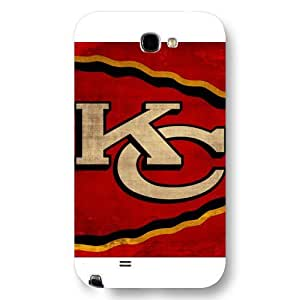 UniqueBox Customized NFL Series Case for Samsung Galaxy Note 2, NFL Team Kansas City Chiefs Logo Samsung Galaxy Note 2 Case, Only Fit for Samsung Galaxy Note 2 (White Frosted Shell)