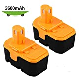 [Upgraded 3600mAh] P100 Replace for Ryobi 18V Batteries One+ P101 ABP1803 1322401 1400672 13022 1323303 130255004 130224028 130224007 Cordless Power Tools - 2 Packs