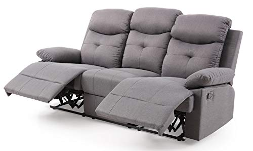 (Glory Furniture Stadium G881-RS Reclining Sofa, Gray. Living Room Furniture 40