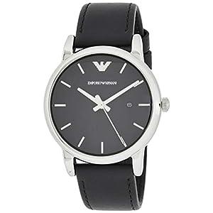 Emporio Armani Men's Analog Quartz Watch with Leather Strap AR1692