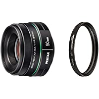 Pentax DA 50mm f1.8 lens for Pentax DSLR Cameras with AmazonBasics UV Protection Lens Filter - 52 mm