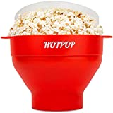 The Original Hotpop Microwave Popcorn Popper, Silicone Popcorn Maker, Collapsible Bowl Bpa Free and...
