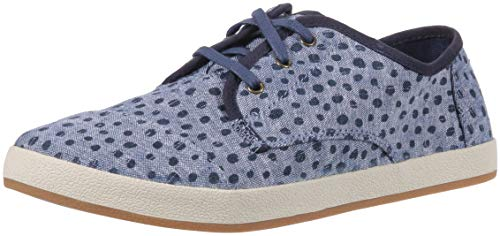 TOMS Women's Paseo Sneaker, Cornflower slub Chambray Torn dots, 6 Medium US