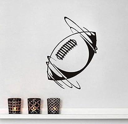 Spinning pelota de rugby de vinilo pegatinas de pared deporte ...