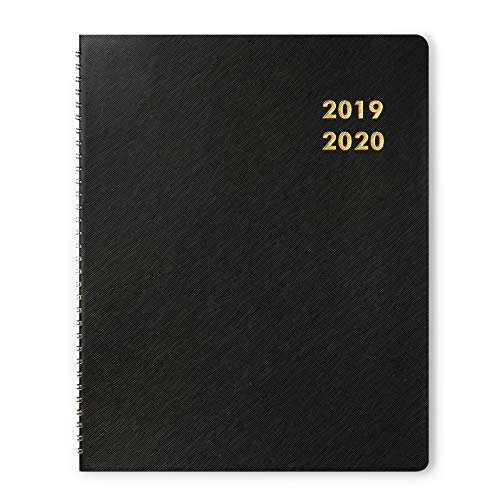 (Monthly Planner Academic Year 2019-2020, Twin-Wire Bounded, 8.5x11 Inches, Large, Black)