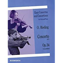 Concerto in G, Op. 34: Easy Concertos and Concertinos Series for Violin and Piano