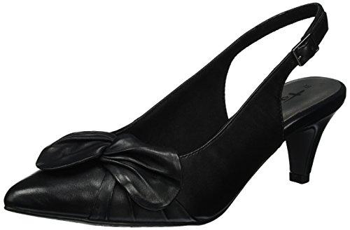 Tamaris 29612, Sandalias con Cuña para Mujer Negro (Black 001)