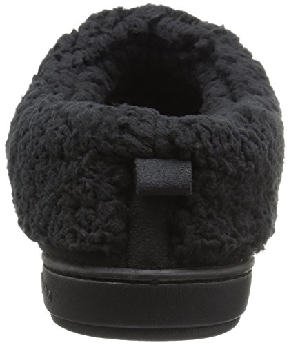 Dearfoams Womens Microsuede Clog Mule Black