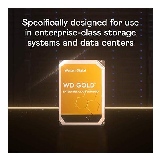 """WD Gold 10TB Enterprise Class Internal Hard Drive - 7200 RPM Class, SATA 6 Gb/s, 256 MB Cache, 3.5"""" - WD102KRYZ 41HlhbvjABL. SS555"""