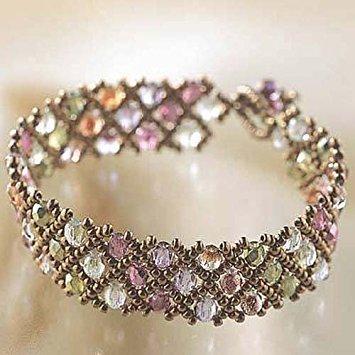 Miyuki Create Your Own DIY Glass Bead Bracelet Kit - Woven Net Pattern ()