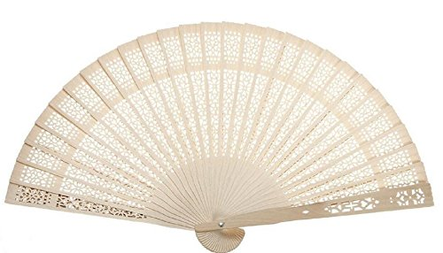 S&D deal Original Chinese Wooden Vintage Folding Carved Hand Fan for Wedding Bridal Party (Wooden Hand Fans)