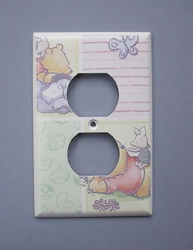 Pooh Switchplate (Classic Pooh OUTLET Switch Plate switchplate #2)
