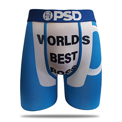 PSD Underwear The Office Athletic Boxer Briefs, World's Best Boss, Large