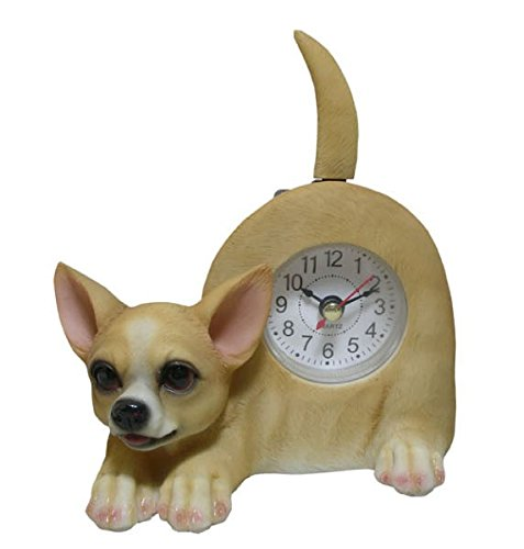 Wagging Table Clock - AIE GF96 Chihuahua Desk Clock 6