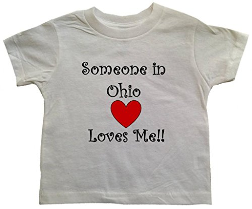 SOMEONE IN OHIO LOVES ME - OHIO TODDLER - State-series - White Toddler T-shirt - size Small (2T)