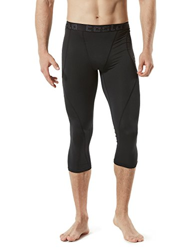 TSLA TM-MUC18-KLB_Medium Men's Compression Capri Shorts Baselayer Cool Dry Sports Tights MUC18 by TSLA (Image #4)
