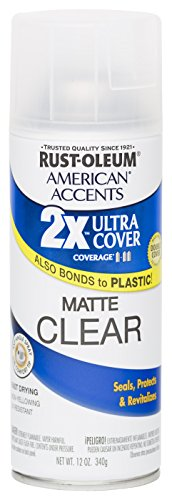 Rust Oleum 280703 American Accents Ultra Cover 2X Spray Paint, Matte Clear, 12-Ounce