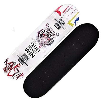 JOL - Tabla de Skate con Cuatro Ruedas para Adultos y niños (Tabla de Arce