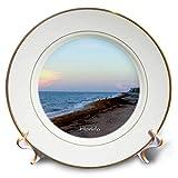 3dRose Lens Art by Florene - Fantastic Florida - Image of Atlantic Ocean at Palm Beach - 8 inch Porcelain Plate (cp_293655_1)