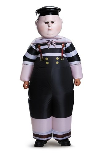 Alice Movie Costumes (Disguise Tweedle Dum/Tweedle Dee Inflatable Child Alice Through The Looking Glass Movie Disney Costume, One Size Child, One Color)