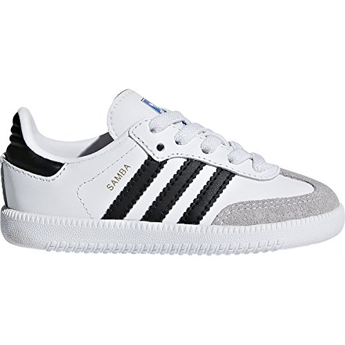 adidas Originals Samba OG EL I White/Black Leather 6.5 M US Infant (Adidas Samba Trainer)