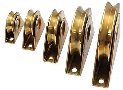 Hochlast Torrolle Laufrolle Schiebetor Rollt/ür Rolltor Hohlkehle 50-140mm 1500kg Lenkrolle F/ührungsrolle /Ø 80mm