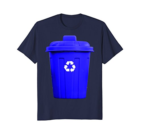 Mens Recycling Can Funny Hilarious Halloween Costume T-Shirt Large Navy ()