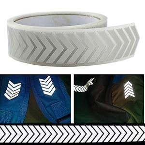 DalaB High Visibility Safety Heat-Transfer Vinyl Film DIY Silver Reflective Iron on Fabric Clothing Tape (36 Style for Choose) 1meter - (Color: M21)