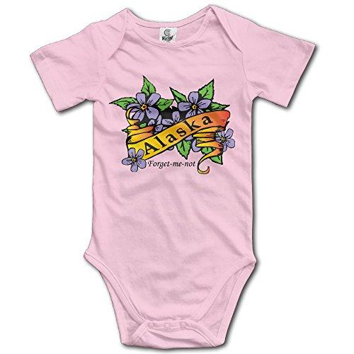 Forget Me Not Suit - Infant Alaska Flower Forget Me Not Cute Baby Onesie Bodysuit
