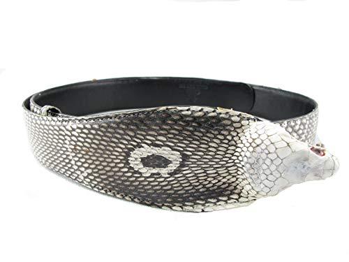 PELGIO Genuine Cobra Snake Skin with Head Belt 46
