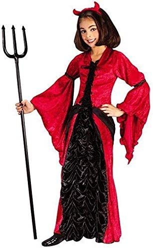 Forever Young Disfraz de Bruja de Diablo Rojo para niñas, Disfraz ...