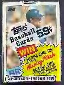 (1985 Topps Baseball Cello Pack (1 Pack of 28 Cards) Possible Mark Mcgwire, Roger Clemens, Kirby Puckett Rookie Cards.)