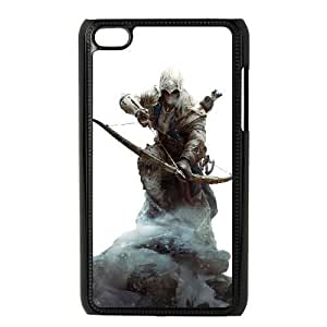 Assassins Creed Image On The iPod 4 Black Cell Phone Case AMW896777