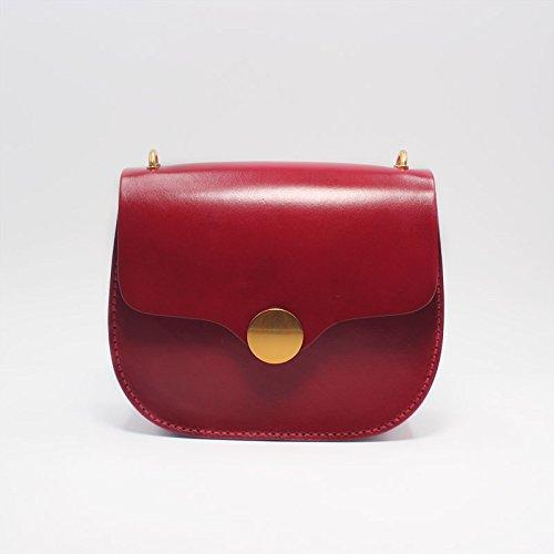 Leather copper Bag Shoulder Red Japanese Bag Round Mori Female Retro Ctao Handmade Small Girl Crossbody TSzOq
