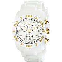 Swiss Legend Men's 10127-02-GA Commander Diamonds Analog Display Swiss Quartz White Watch