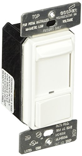 Cooper Wiring Devices SI06P-W Dim Sld SP/3Way LT 600W Inc Mlv Pset WH