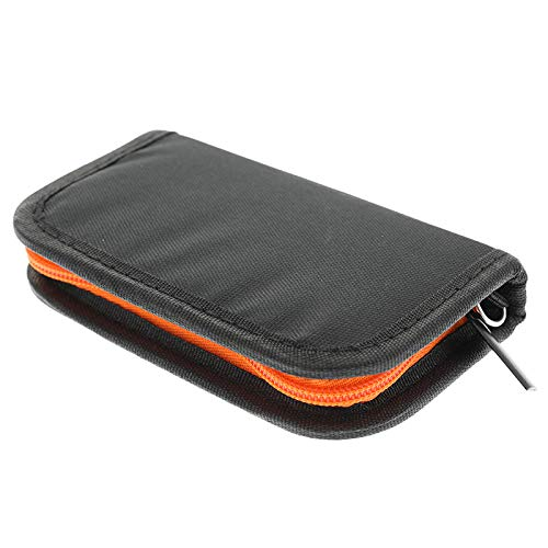 Carrying Case Cover Holder Wallet Compatible with Juul/MT/MYLE Vape Bag  Traveling Bag-Device not Included (Orange)