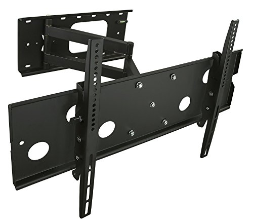 Price comparison product image Mount-It! TV Wall Mount Swing Out Full Motion Design for Corner Installation,  Fits 40 50,  55,  60,  65,  70 Inch Flat Screen TVs,  220 Lb Capacity (MI-319L)